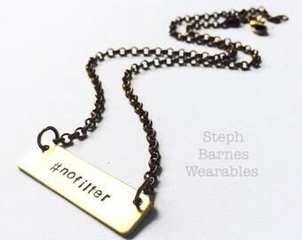 simple  #nofilter  necklace in bronze