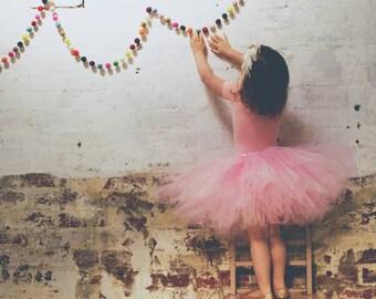Girl's Pink Macaroon Tutu Skirt
