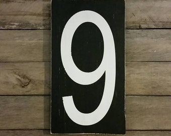 Distressed wood number or letter wall art