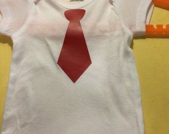 Bodysuit with red tie
