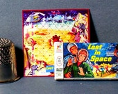 Lost in Space Game 1965 - Doll House Miniature - 1:12 scale - Game box and game board - Dollhouse accessory boy girl boardgame toy