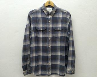 Stunning Authentic RRL Double RL Ralph Lauren Flannel Check Shirt Sz M cowboy