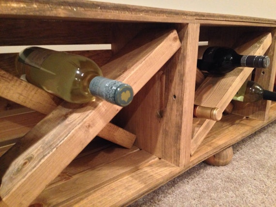 Wood crate wine storage bench entry bench by for Wood crate bench