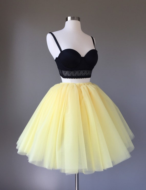 original yellow tulle skirt outfit 8