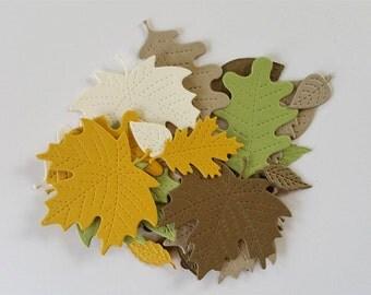 Die Cut Stitched Leaves