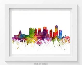 Edmonton Poster, Edmonton Skyline, Edmonton Cityscape, Edmonton Print, Edmonton Art, Edmonton Decor, Home Decor, Gift Idea 06