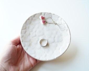Ring Bearer Pillow, Ceramic Ring Dish, Wedding Ring Holder, Wedding Ring Plate, Wedding Ring Bearer, Ceramics and Pottery