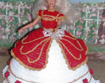 Crochet Fashion Doll Barbie  Pattern- #369 BE MINE #2