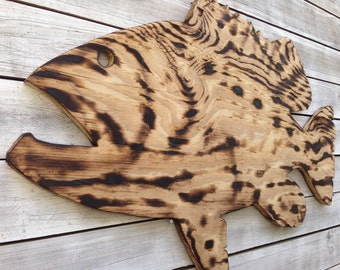 Large Goliath Grouper Wooden Sign, Outdoor Fish Beach house decor, Wood Fish wall art. Fisherman gift idea