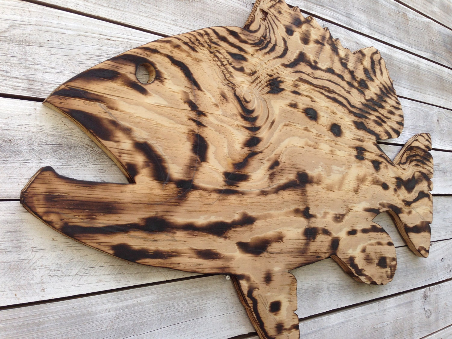 Fish Wall Decor Wood : Large outdoor wall art fish decor coastal wood by