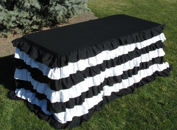 Tablecloth-Tailgate or Sports Team Party, Nautical Black and White ...