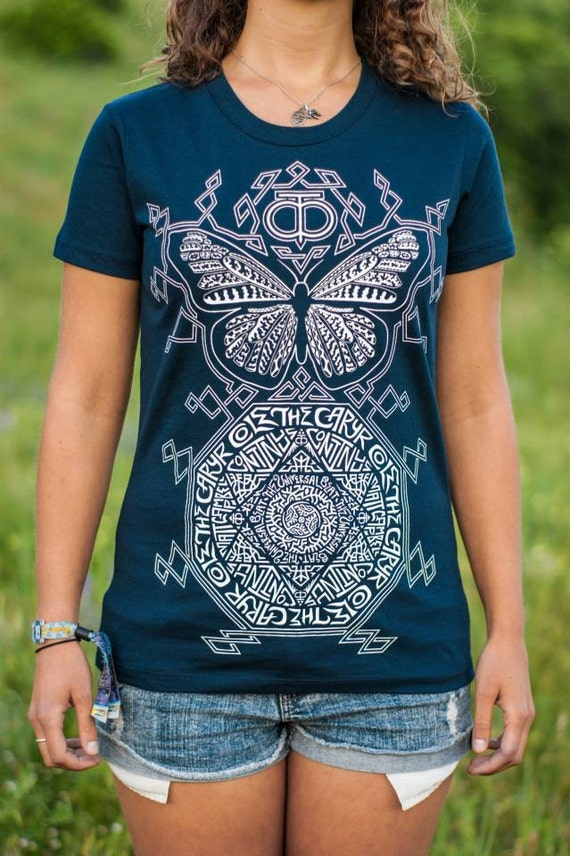 Cole The Caryr Collab—Womens' Organic USA Made - Butterfly T-Shirt, Metaphysical T-Shirt, New Age Shirt, Metaphysical Clothing