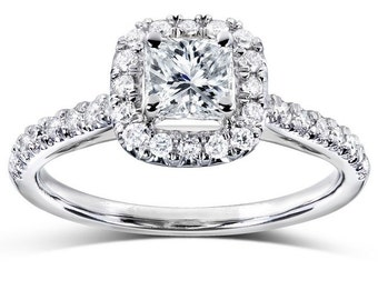 Diamond Engagement Ring 3/4 carats (ctw) in 14k White Gold