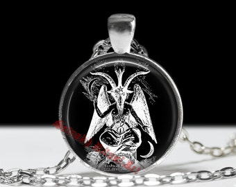 Baphomet pendant, baphomet necklace, occult pendant, occult necklace, satanic goat pendant, magic jewelry, Eliphas Levi #2