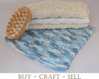 Knitting Pattern - Dishcloths/Washcloths - Instant Download - Shingle Design