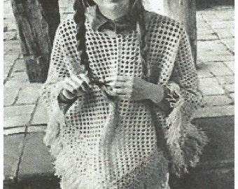 Instant Download - PDF-Lovely  Lacy DK Poncho crochet Pattern
