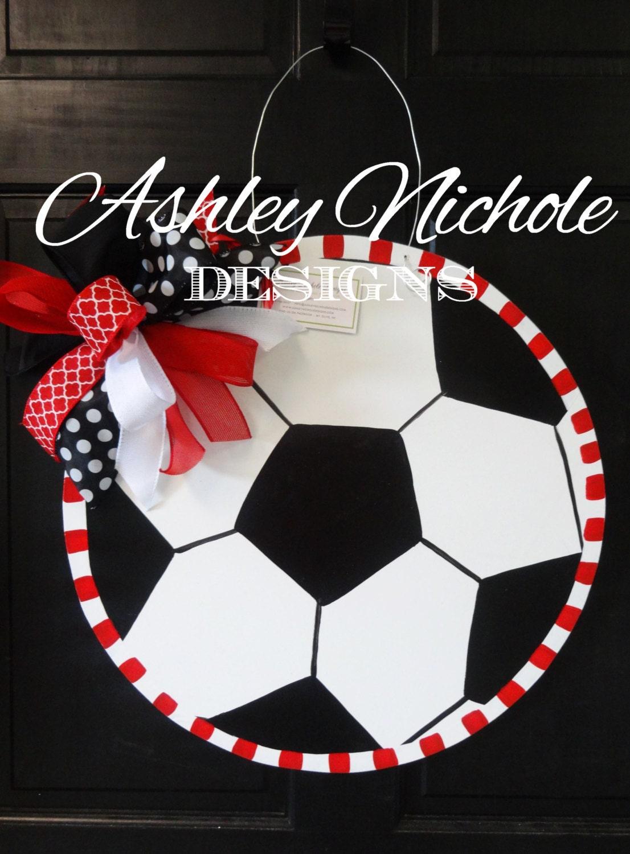 Soccer Ball Door Hanger Door Decoration Soccer Wreath