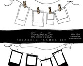 Digital Photo Frames, Clothes Line, Clothespins and Paper Clip for design, pu, cu and b4h Friendly