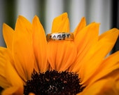 Personalized ring , Name ring , Wedding Ring , Engraved ring , Hand Stamped Ring , Customized Rings , Promise Rings , Stainless Steel Rings