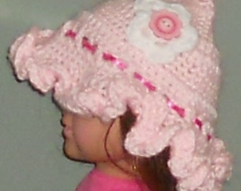CROCHETED Boutique Child's Ruffle Hat