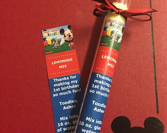Mickey Mouse Birthday Party Favors, Lemonade Party Favor, Mickey Mouse Clubhouse Party Favors, Mickey Mouse Favors