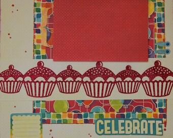 Celebrate 12x12 Premade Scrapbook Page