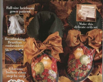 Australian INSPIRATIONS Magazine Issue No. 4 1994 Embroidery Patterns Uncut Vintage Craft