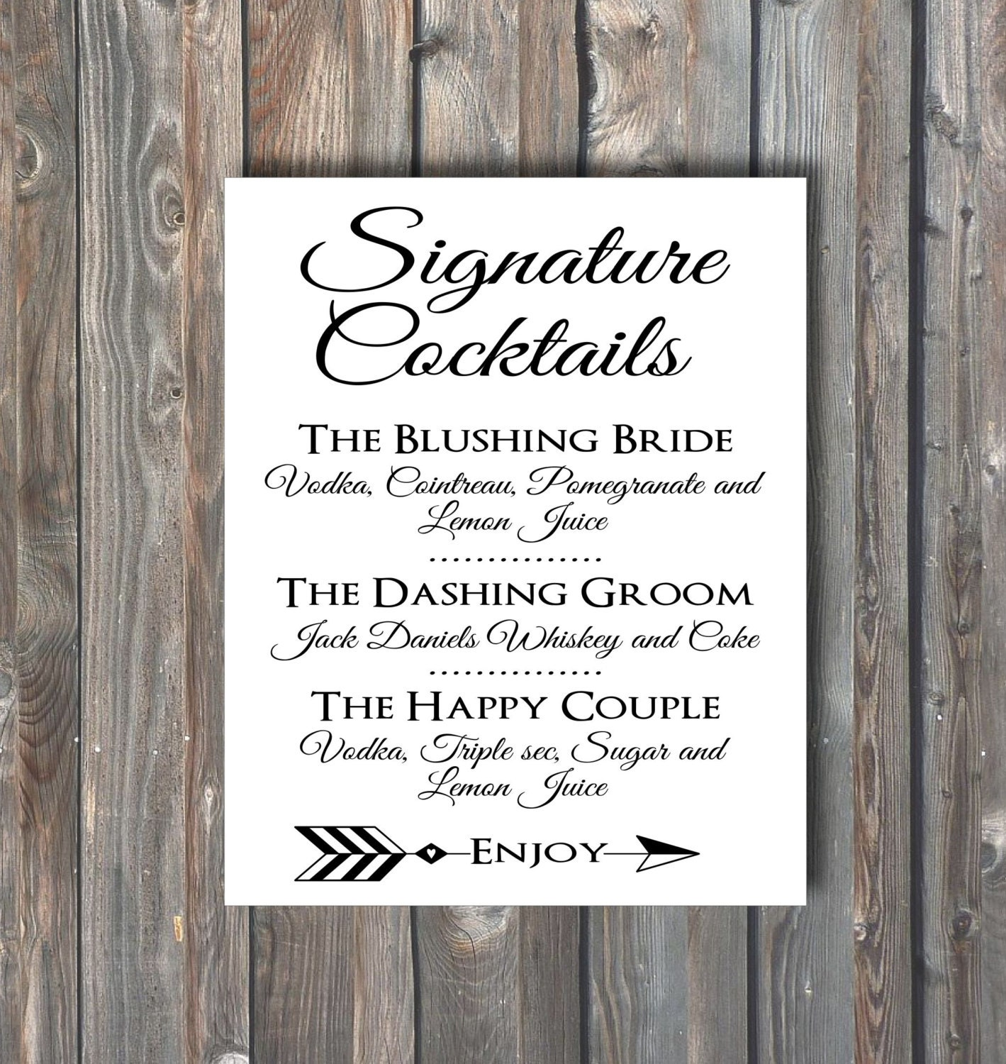 Drink for wedding 28 images printable drink menu card diy drink for wedding signature cocktail sign wedding drinks by happyfiestadesign junglespirit Gallery