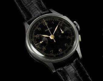 1940'sSwiss Vintage Professional & Sporting Telemeter Mens Chronograph Watch