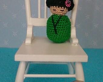 miniature amigurumi crochet Japanese Kokeshi doll