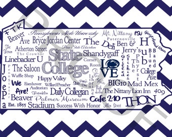 Penn State Word Art