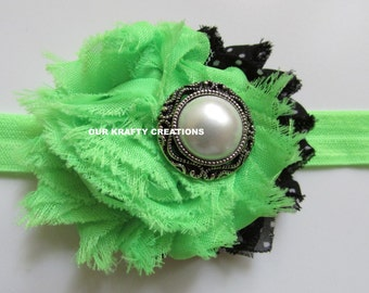 Green Headband, Baby Headband, Toddler Headband, Holiday Headband, Photo Shoot Prop