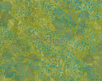 """Island Batik: Green Fat Quarter 18"""" x 22"""""""