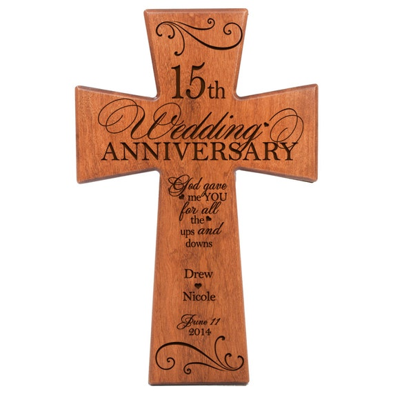 Ideas For 15th Wedding Anniversary Gifts For Husband : ... 15th wedding anniversary Wall Cross 15th anniversary for Husband 15th