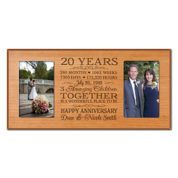 Twenty Wedding Anniversary Gift: Personalized 20th Anniversary Gift For By DaySpringMilestones