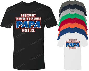 This Is What The World's Greatest Papa Look Like Men's T-shirt Father's Day Shirts