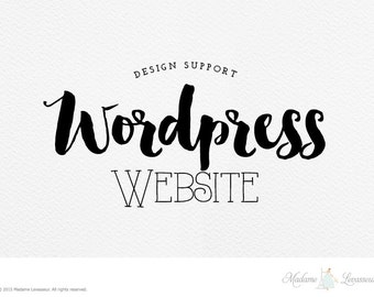 wordpress website support wordpress theme customization custom web design custom wordpress website design by The Paris Wife - Wordpress