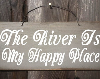 river decor, river house decor, river sign, river wall decor, river wall art, river is my happy place