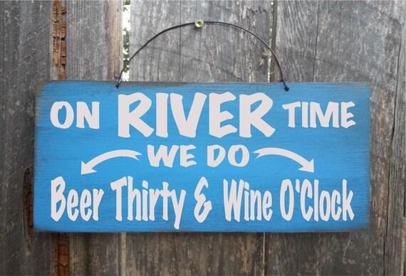 river decor, river house decor, river sign, river wall decor, river wall art, on river time, beer sign, 138/257