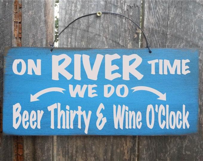 river decor, river house decor, river sign, river wall decor, river wall art, on river time, beer sign
