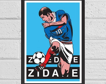 Zinedine Zidane A3 print and greeting card
