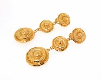 Gold Earrings Chandelier Clip On by Sardi London