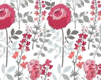 Dear Stella Flirt Floral Plum (Half metre)