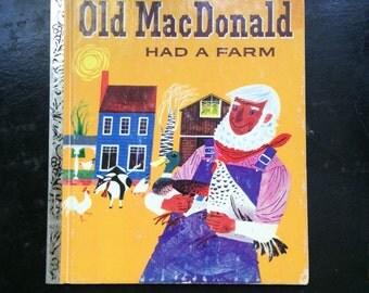 Old MacDonald Had A Farm - A Little Golden Book 1960