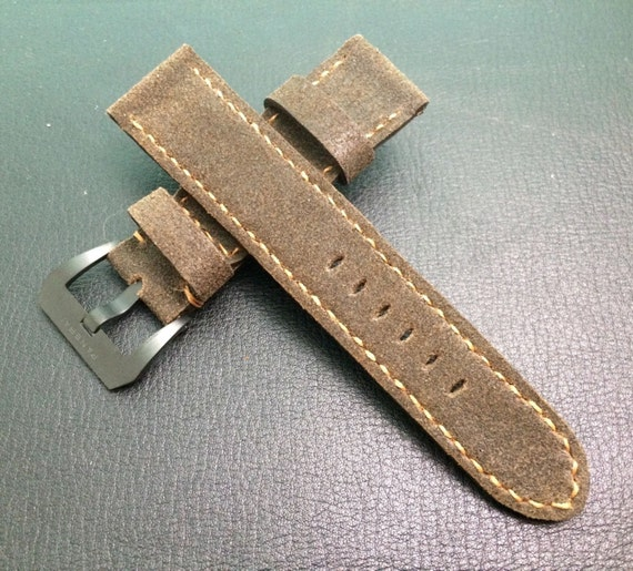 New Material! Nubuck Leather Strap for luxury Watch (24mm/22mm) - Best Quality!