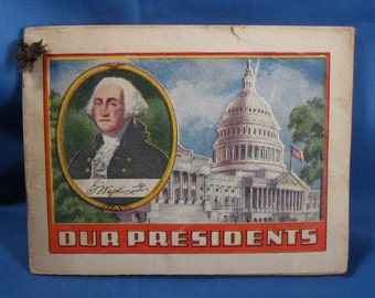 Vintage Presidents Advertising Booklet - Alka Selzer - Dr. Miles