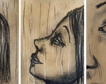 Energy Flowing Tears Art Print