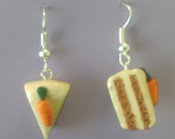 Carrot cake earrings