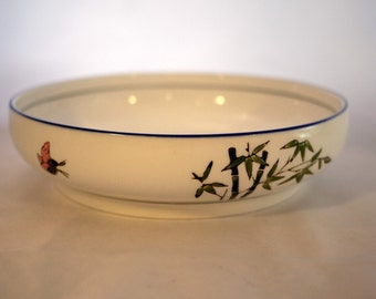White Vintage Chinese Serving Bowl