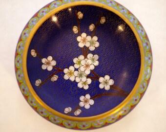 Vintage Cloisonne Chinese Bowl